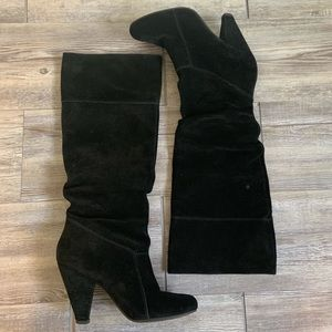 Jessica Simpson Suede Slouch High Heeled Boots